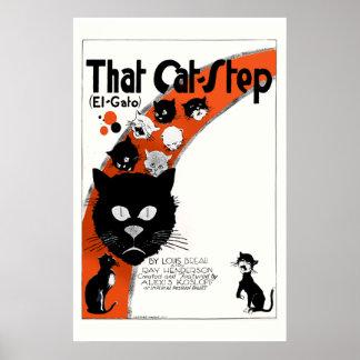 Esa parada del gato - poster grande del EL Gato