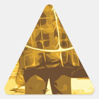 esa sensación 70s pegatina triangular