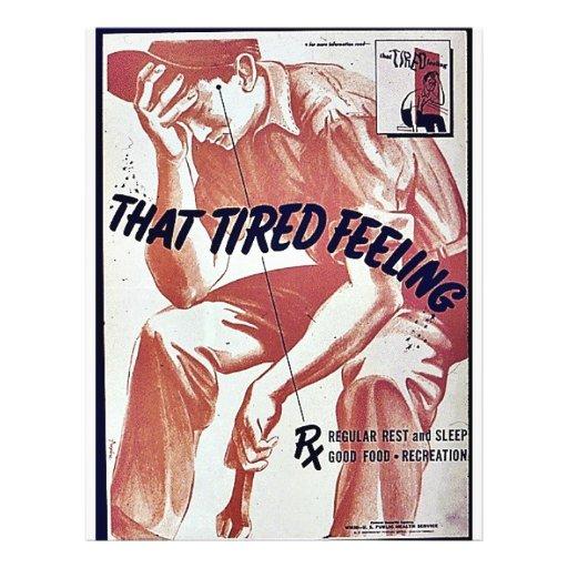 """Esa sensación cansada folleto 8.5"""" x 11"""""""