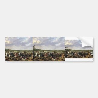Esaias de Velde- Battle scene in an open landscape Bumper Stickers