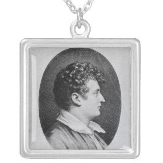 Esaias Tegner Square Pendant Necklace