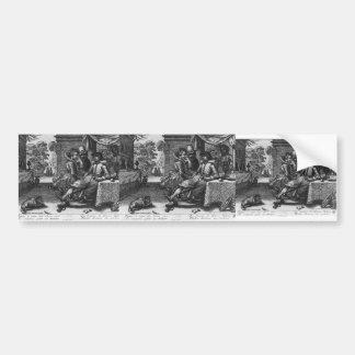 Esaias van de Velde: Banquet on a Terrace Bumper Sticker