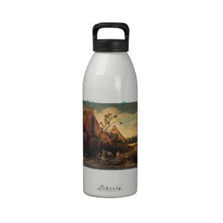 Esaias van de Velde- el robo Botella De Beber