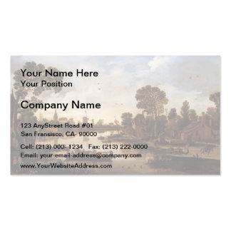 Esaias van de Velde- Ferry Boat Business Card Template