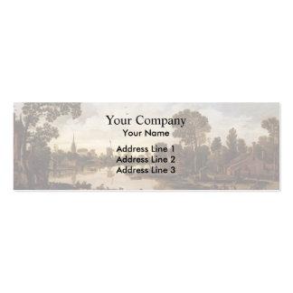 Esaias van de Velde- Ferry Boat Business Card Templates