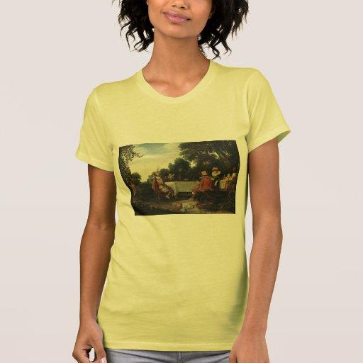 Esaias van de Velde- Party in the Garden T Shirts
