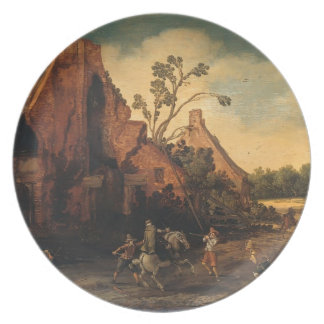 Esaias van de Velde- The robbery Plate