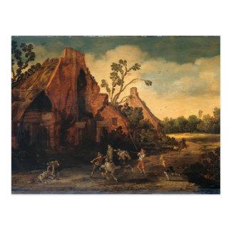 Esaias van de Velde- The robbery Postcard