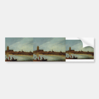 Esaias van de Velde- View of Zierikzee Bumper Stickers