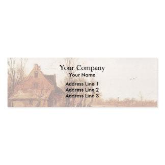 Esaias van de Velde- Winter Landscape Business Card