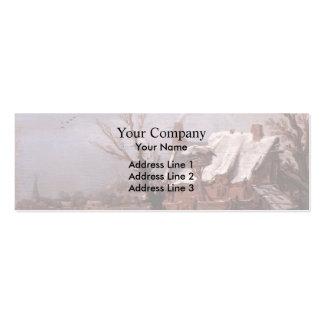 Esaias van de Velde- Winter Landscape Business Card Template