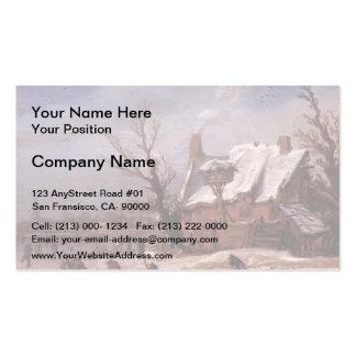 Esaias van de Velde- Winter Landscape Business Card Templates