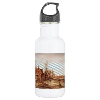 Esaias van de Velde- Winter Landscape 18oz Water Bottle