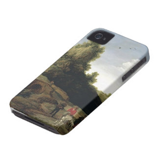 Esaias Velde- A landscape with travellers iPhone 4 Case-Mate Case