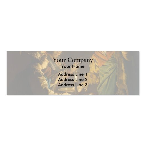 Esau and Jacob by Matthias Stom Business Card Template