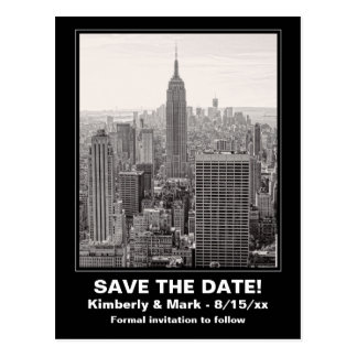 ESB BW del horizonte de NYC 1 reserva la fecha Postal