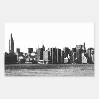 ESB del horizonte de NYC, opinión 001 de East Pegatina Rectangular