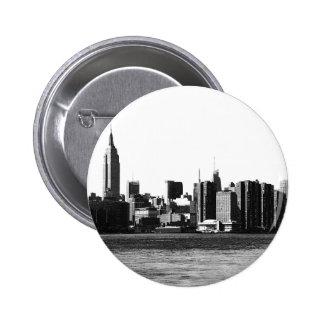 ESB del horizonte de NYC, opinión 001 de East Pin Redondo De 2 Pulgadas