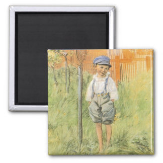 Esbjorn and Apple Tree 2 Inch Square Magnet