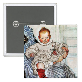 Esbjorn as Baby Pulling His Sock Pinback Button