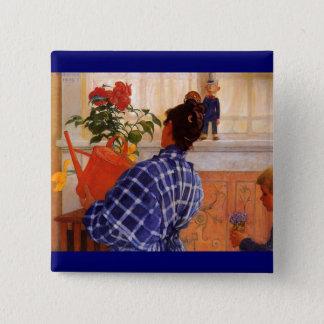 Esbjorn Brings Karin Violets Pinback Button