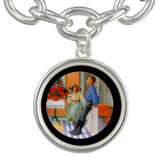 Esbjorn Brother and Sister in Sunroom Charm Bracelets