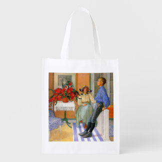Esbjorn Brother and Sister in Sunroom Grocery Bag