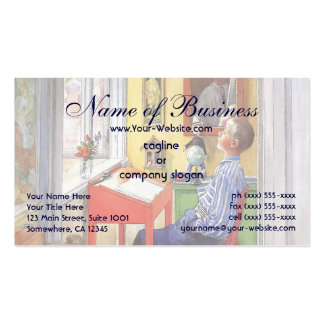 Esbjorn Doing His Homework by Carl Larsson Double-Sided Standard Business Cards (Pack Of 100)