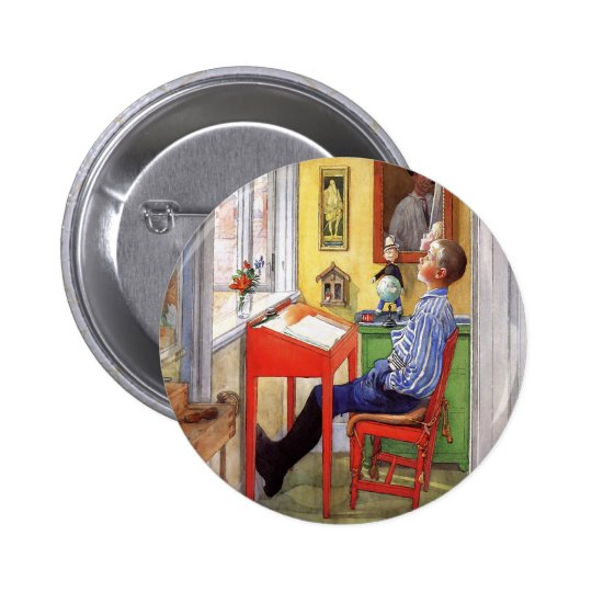 Esbjorn Doing His Homework by Carl Larsson Button