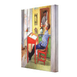 Esbjorn Doing His Homework by Carl Larsson Stretched Canvas Print