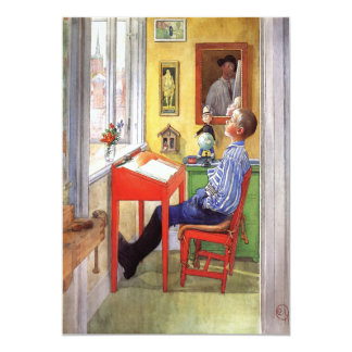 Esbjorn Doing His Homework by Carl Larsson Card