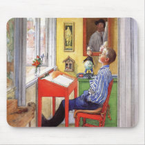 Esbjorn Doing His Homework by Carl Larsson Mouse Pad