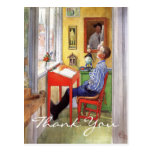 Esbjorn Doing His Homework by Carl Larsson Post Cards