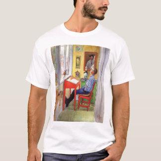 Esbjorn Doing His Homework by Carl Larsson T-Shirt