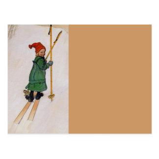 Esbjorn en los esquís 1905 postales