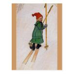 Esbjorn en los esquís 1905 tarjetas postales