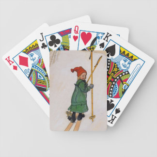 Esbjorn on Skis 1905 Bicycle Playing Cards