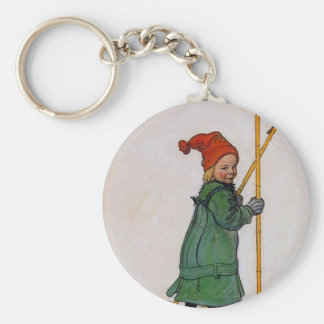 Esbjorn on Skis 1905 Keychain