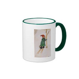 Esbjorn on Skis 1905 Ringer Mug