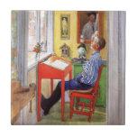 Esbjorn que hace su preparación de Carl Larsson Azulejos Cerámicos