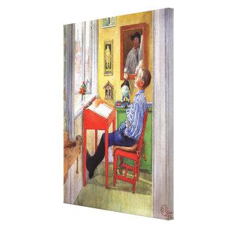 Esbjorn que hace su preparación de Carl Larsson Impresión En Lienzo