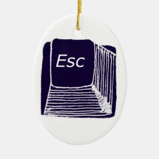esc ceramic ornament