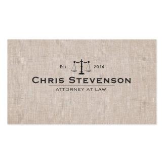 Escala clásica de la justicia del abogado tarjetas de visita