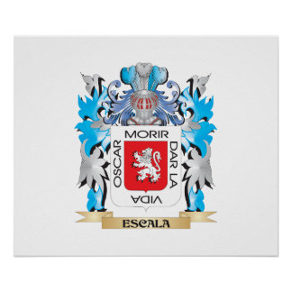 Escala Coat of Arms - Family Crest Poster