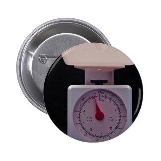 Escala de la comida para pesar la comida pin redondo de 2 pulgadas