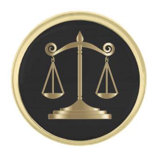 Escala de la ley del monograma el   de la justicia pins dorados