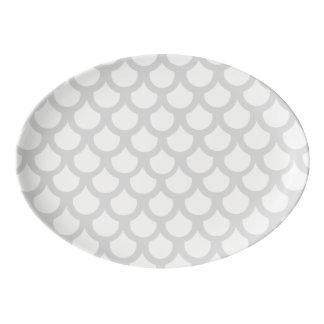 Escala de pescados plateada 1 badeja de porcelana