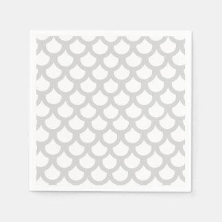 Escala de pescados plateada 1 servilletas de papel