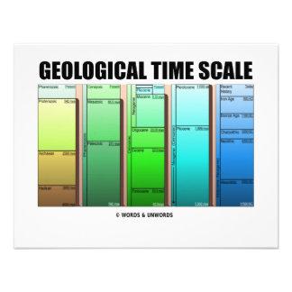 Escala de tiempo geológica edad geológica anuncios