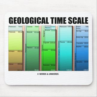 Escala de tiempo geológica edad geológica tapetes de ratón